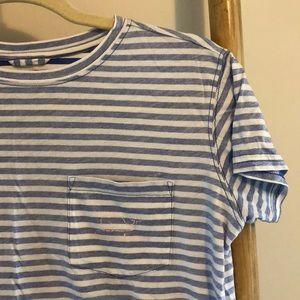 Vineyard Vines Pocket T-Shirt, blue & white stripe